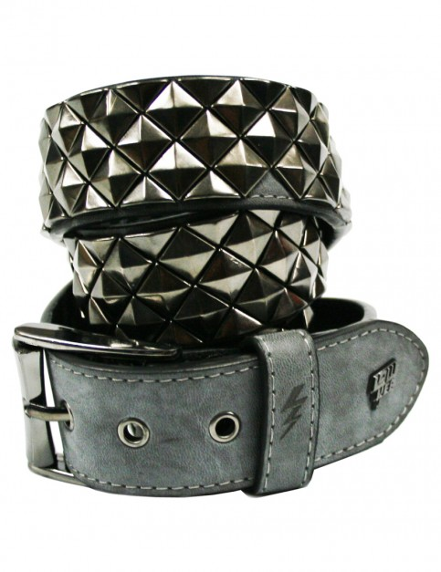 Lowlife Armor Leather Belt in Slate