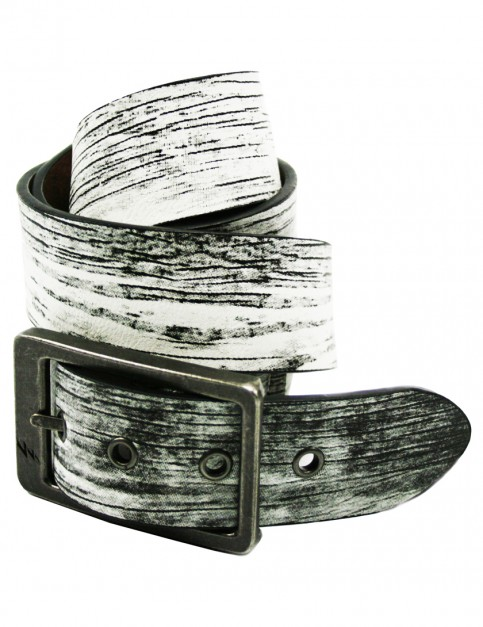 Lowlife Ash Leather Belt in Tex White