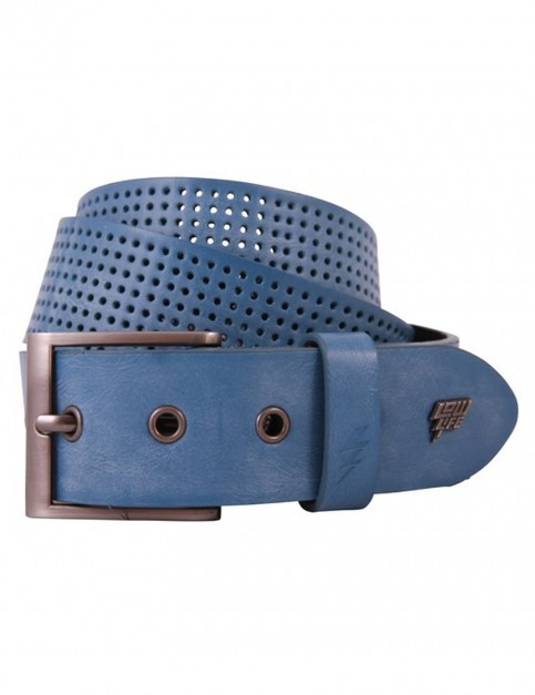 Lowlife Clyde Leather Belt in Electric Blue