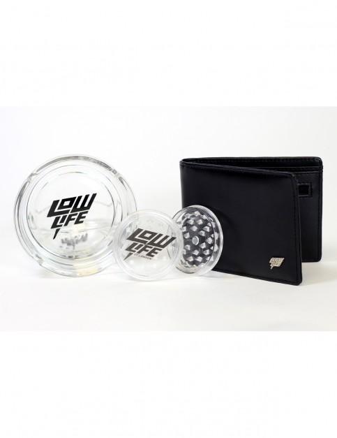 Lowlife Grinder Ashtray & Wallet Gift Set in Black