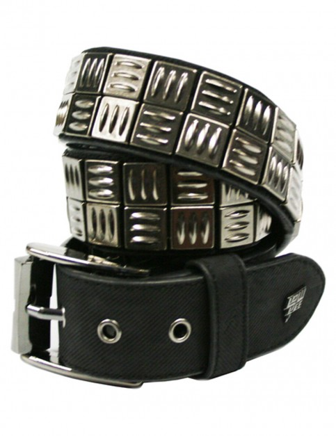 Lowlife Grip Leather Belt in Black