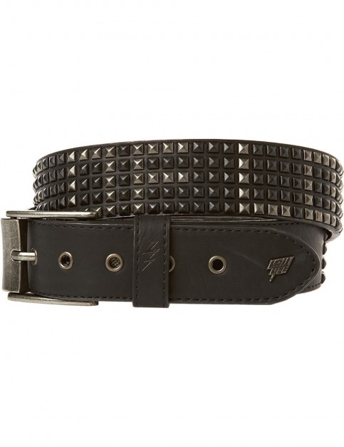 Lowlife Shrink Leather Belt in Black Word