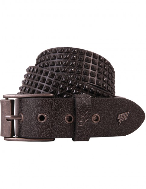 Matt Black Lowlife Shrink Faux Leather Belt