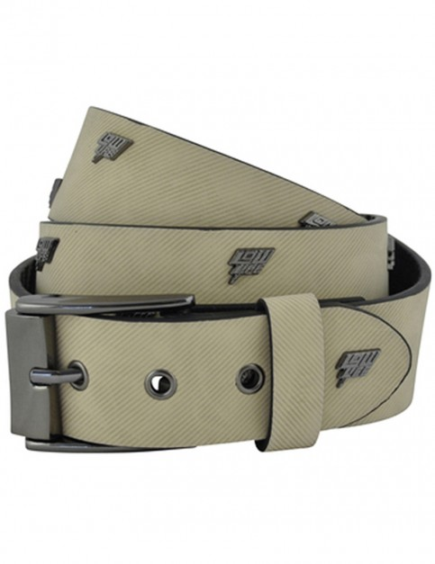 Lowlife Storm Leather Belt in White