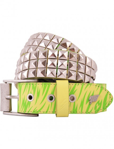 Lowlife Triple S Studded Leather Belt in Neon Print