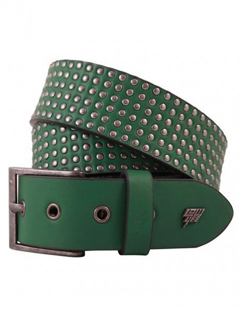 Lowlife Wallace Leather Belt in Kelly Green