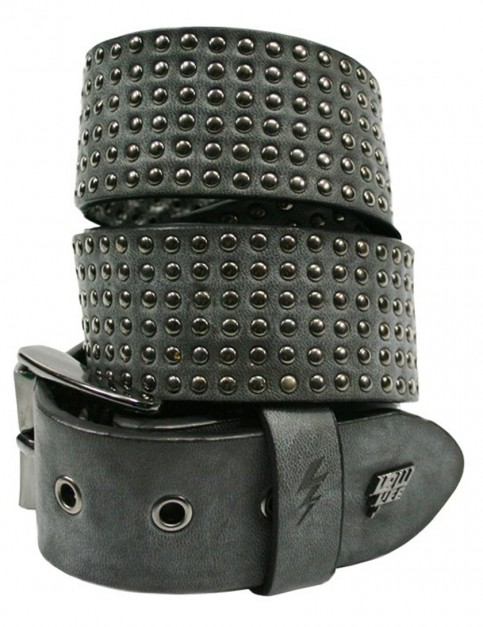 Lowlife Wallace Leather Belt in Slate