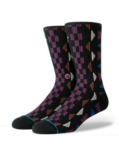 Stance Aztec Crew Socks in Black