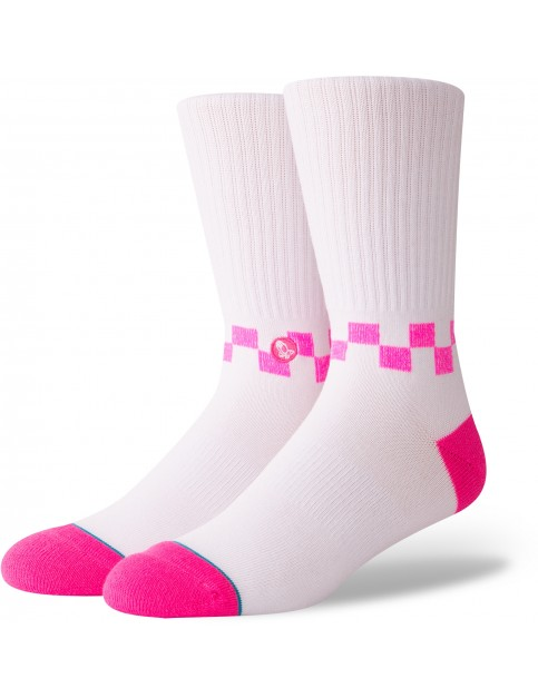 Stance Checkness Crew Socks in Pink