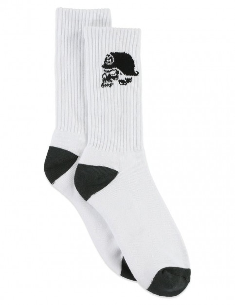 White Metal Mulisha Die Hard Socks