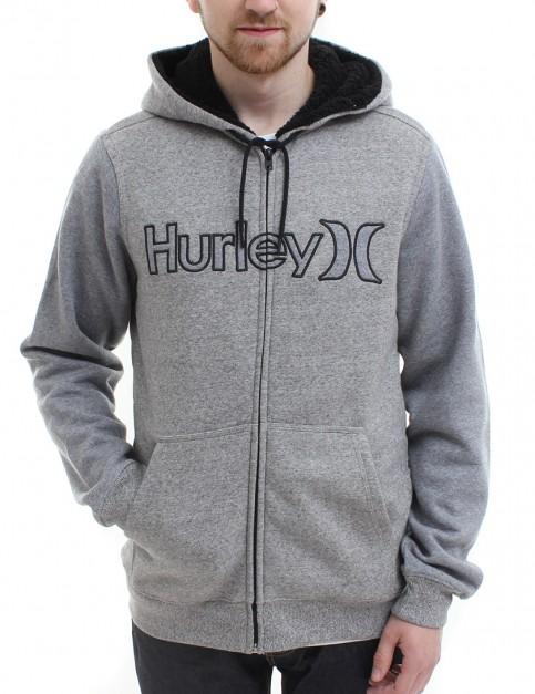 Hurley Getaway Sherpa lined zip hoody - White