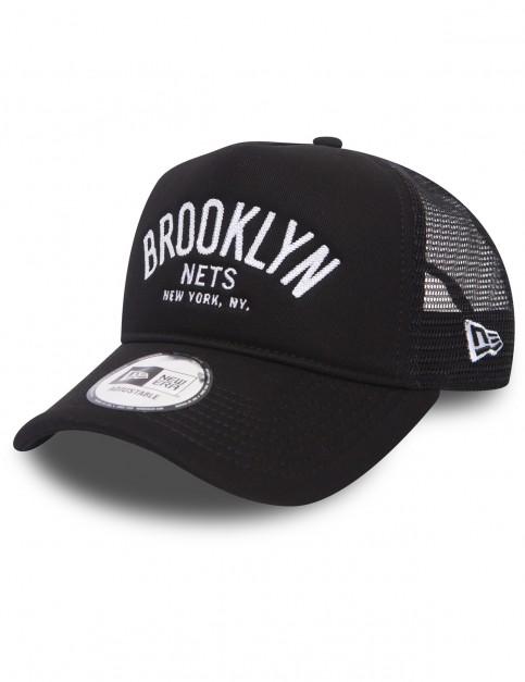 New Era Chainstitch Trucker Cap in Black