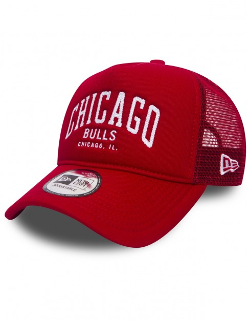 New Era Chainstitch Trucker Cap in Red