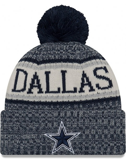 New Era Dallas Cowboys Bobble Hat in Blue