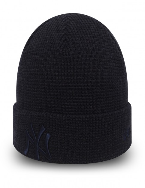 New Era Essential Waffle Knit Beanie in Navy