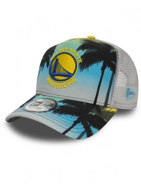 New Era Golden State Warriors Trucker Cap in Palm Trees