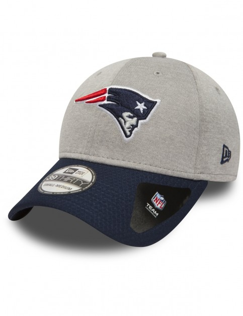 New Era Jersey Hex 39Thirty New England Patriots Cap in Grey
