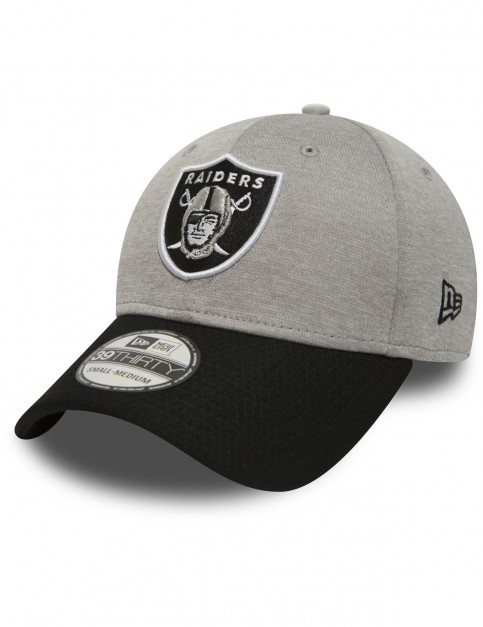 New Era Jersey Hex 39Thirty Oakland Raiders Cap in Grey
