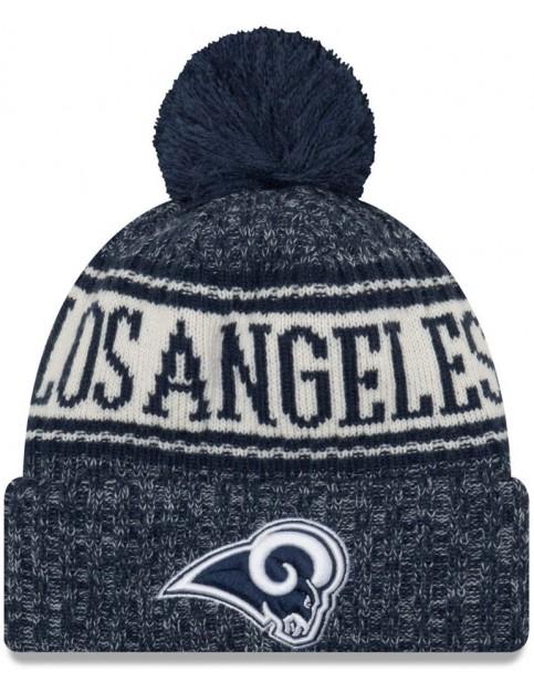 New Era Los Angeles Rams Bobble Hat in Blue
