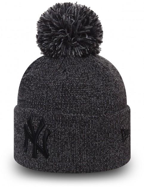 New Era Marl Bobble Knit Bobble Hat in Grey