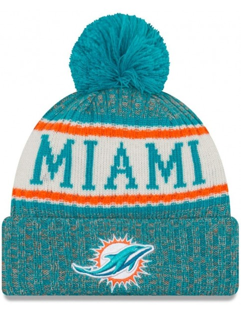 New Era Miami Dolphins Bobble Hat in Blue