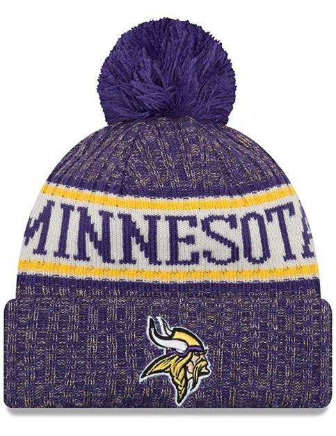 New Era Minnesota Vikings Bobble Hat in Purple