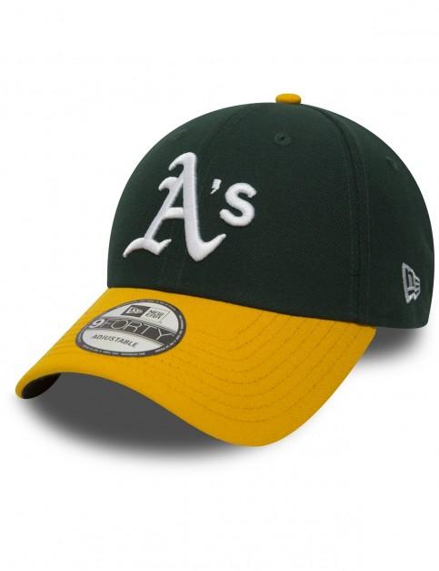 New Era MLB Oakland Athletics Cap in Green/Yellow