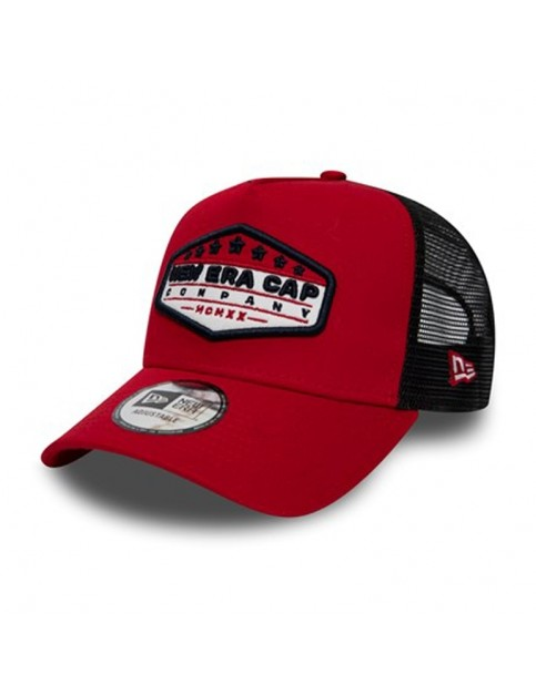 New Era New Era Cap Patch Trucker Cap in Red