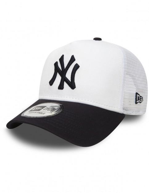 New Era New York Yankees Trucker Cap in White
