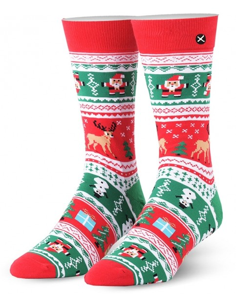 Odd Sox Christmas Sweater Crew Socks