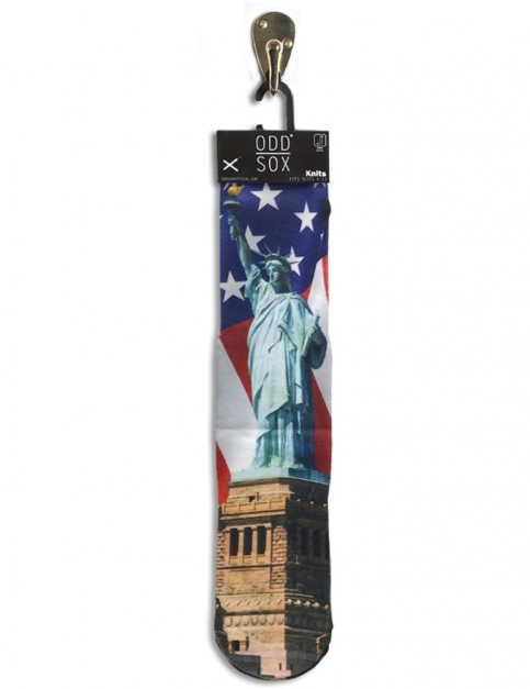 Odd Sox Lady Liberty Crew Socks