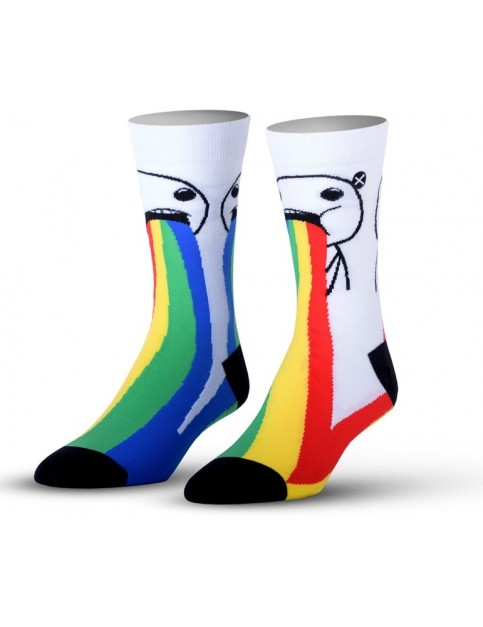 Odd Sox Puking Rainbows Crew Socks