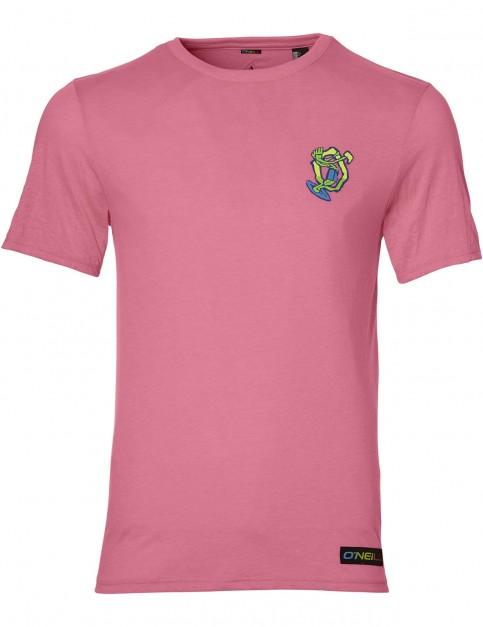 ONeill 88 Beach Short Sleeve T-Shirt in Neon Tangerine Pink