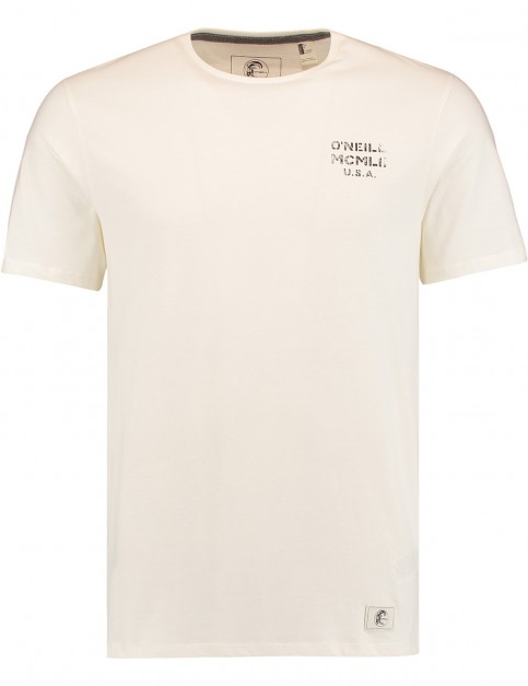 ONeill Back Print Short Sleeve T-Shirt in Powder White
