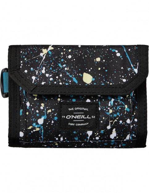 ONeill Bm Pocketbook Polyester Wallet in Black Aop