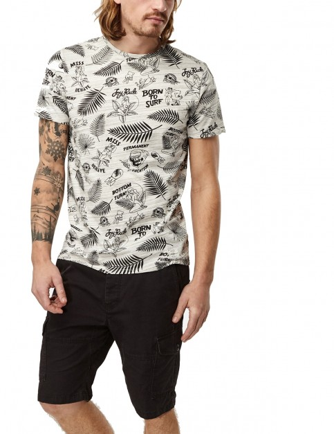 ONeill Born To Surf Short Sleeve T-Shirt in Powder White