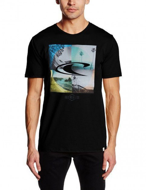 ONeill Capture Frames Short Sleeve T-Shirt in Black Out