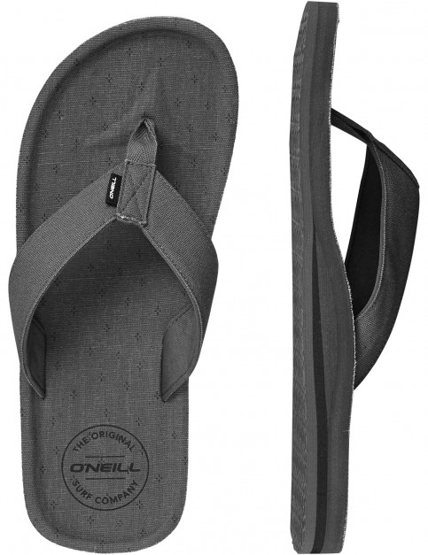 ONeill Chad Pattern Canvas Sandals in Grey Aop