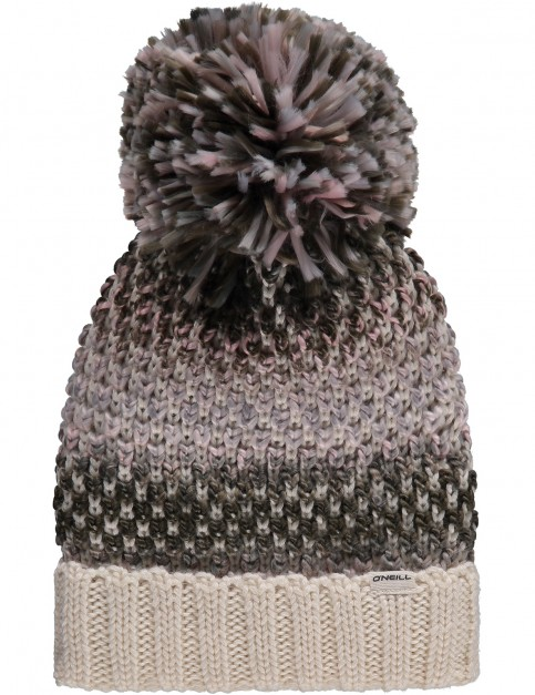 ONeill Crescent Wool Mix Beanie in Powder White