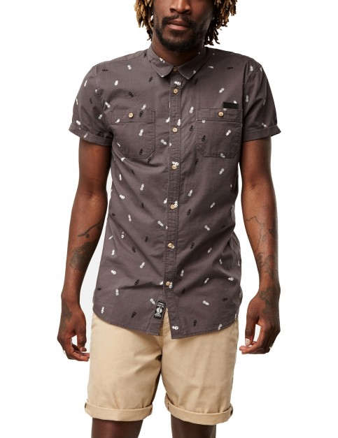 ONeill Delica Short Sleeve Shirt in Grey Aop