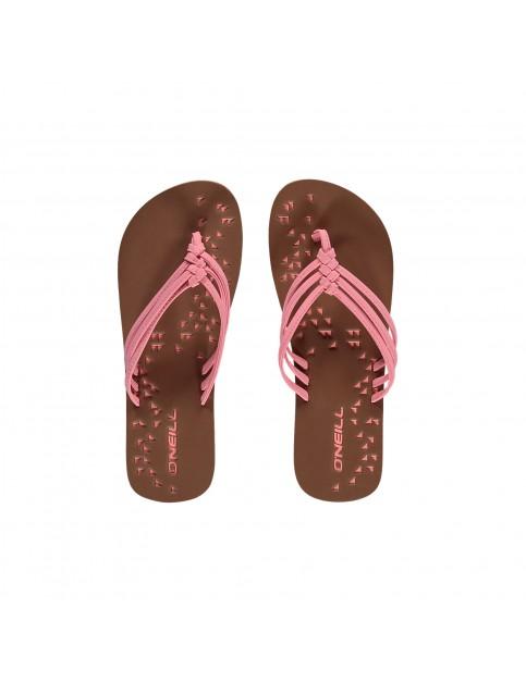 ONeill Ditsy Flip Flops in Neon Tangerine Pink