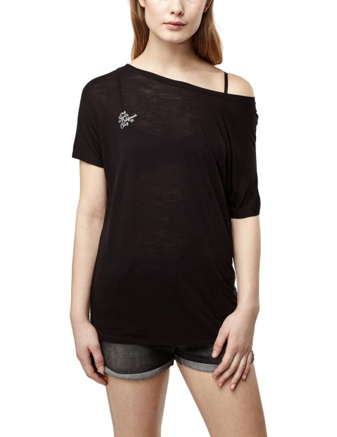 ONeill Essentials Drapey Short Sleeve T-Shirt in Black Out