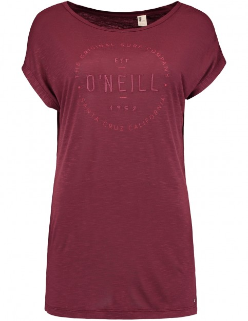 ONeill Essentials Logo Short Sleeve T-Shirt in Current Red