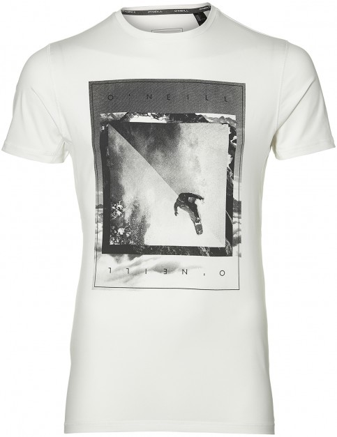 ONeill Framed Hybrid Short Sleeve T-Shirt in Super White