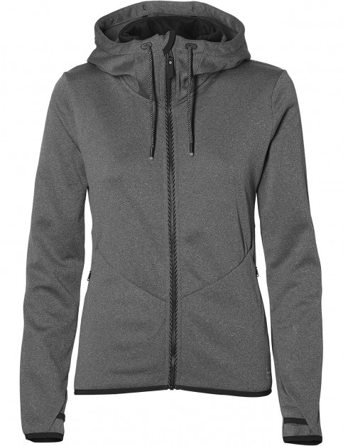 ONeill Hoodie Full Zip Fleece in Dark Grey Melee
