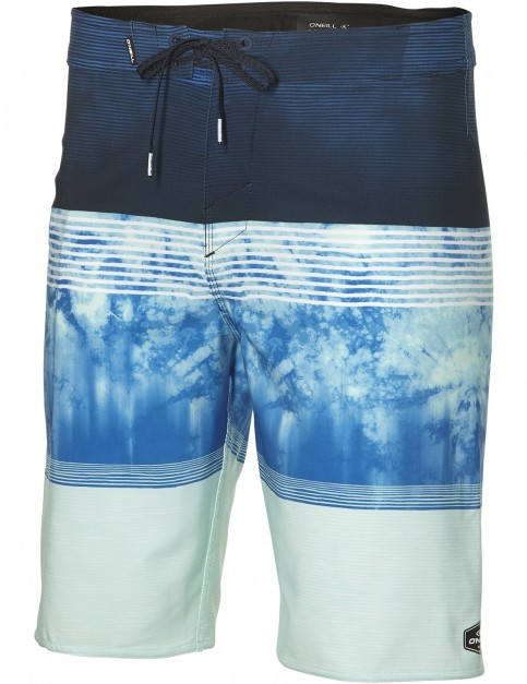 ONeill Hyperfreak Mid Length Boardshorts in Blue Aop