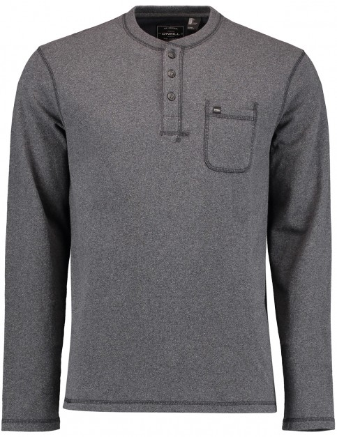 ONeill Jacks Base Henley Long Sleeve T-Shirt in Asphalt