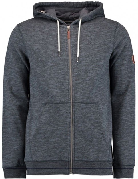 ONeill Jacks Base Zipped Hoody in Dark Slate