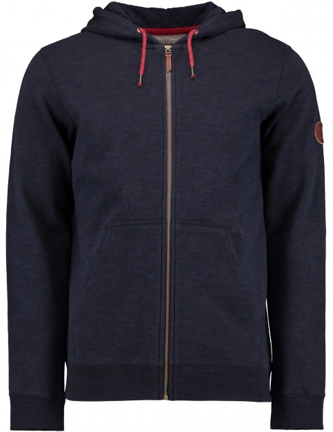 ONeill Jacks Base Zipped Hoody in Ink Blue