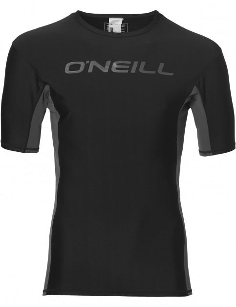 ONeill Lake Short Sleeve Rash Vest in Black Out